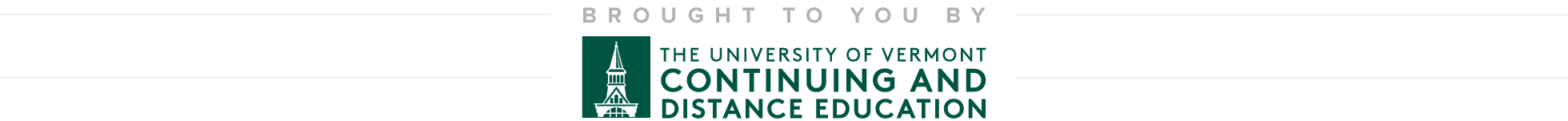 UVM Continuing and Distance Education